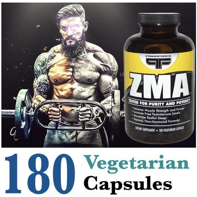 ZMA 180 Vcap (Build Muscle + Recovery) 100% Vegetarian (USA)