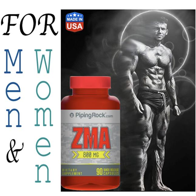Zma 90Caps, For men & Women, (Build Muscle + Recovery, Whey) USA