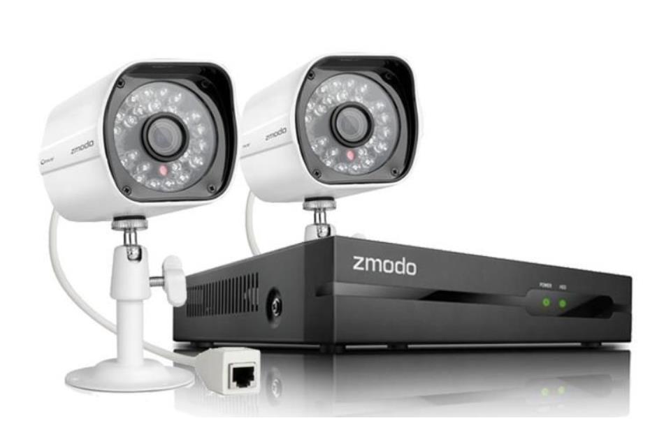 ZMODO CCTV NVR COMBO SET 4 CH 1080P / 2 X IP CAMERA / NOHDD ZM-SS812