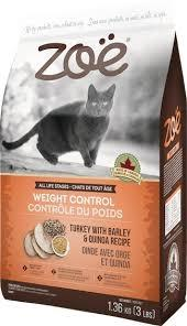 ZOE CAT WEIGHT CONTROL- TURKEY WITH BARLEY & QUINOA 1.36kg