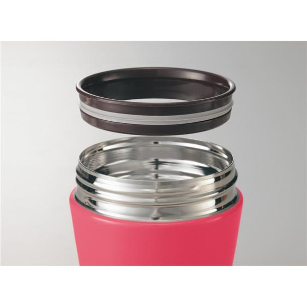 ZOJIRUSHI S/S FOOD JAR 0.36L-CHERRY RED