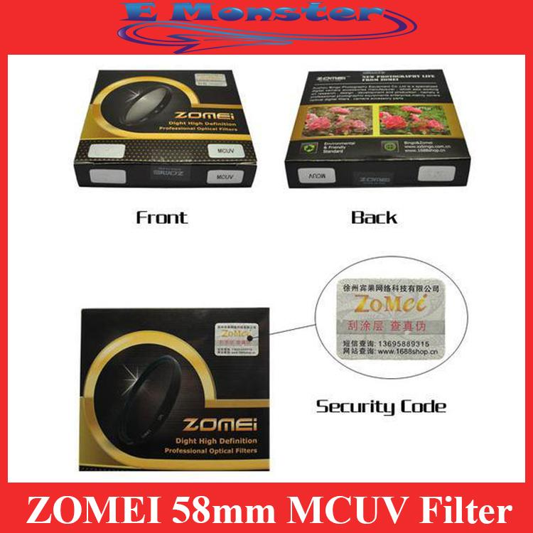 ZOMEI 52mm Multi Coated Ultraviolet MC UV MCUV Filter Protector
