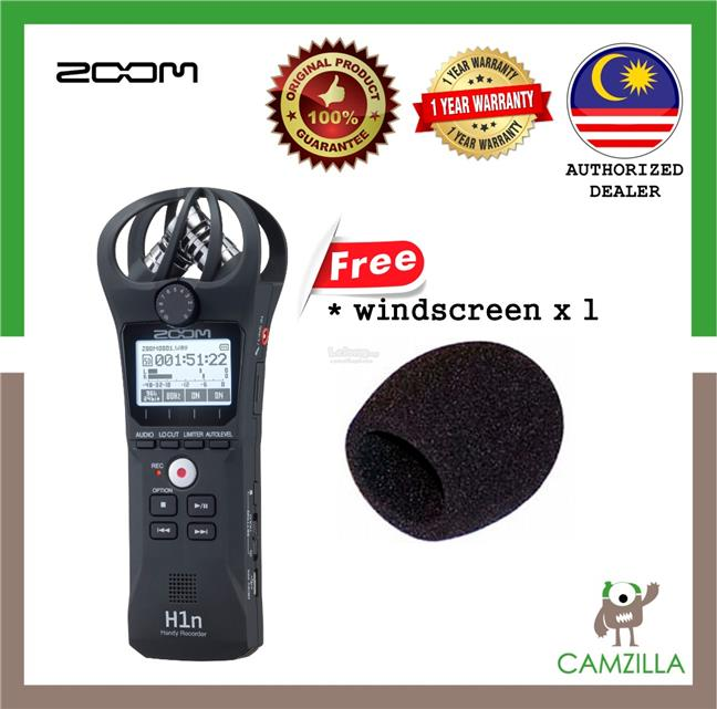 Zoom H1n Digital Handy Recorder ***(FREE windscreen x1)