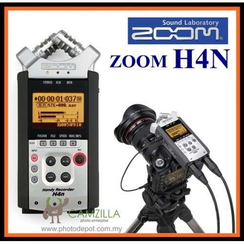 ZOOM H4n - Handy 4 Track Audio Mic Recorder