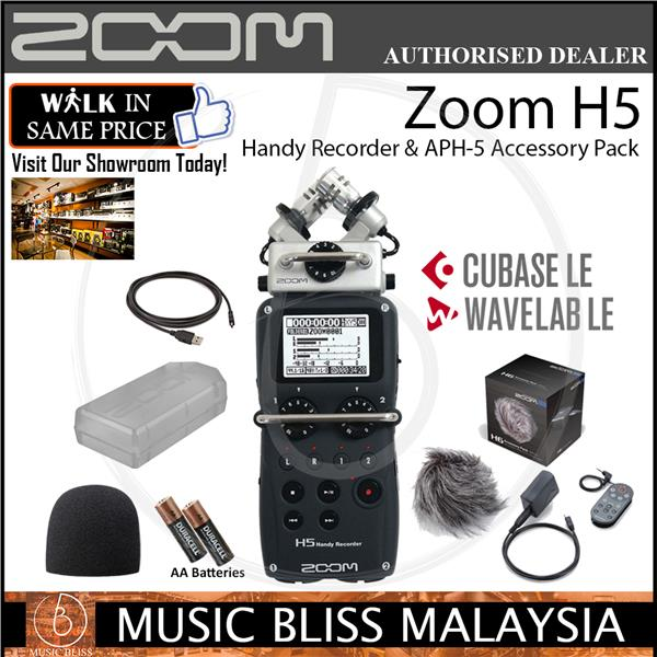 Zoom H5 Handy Recorder & APH-5 Accessory Pack
