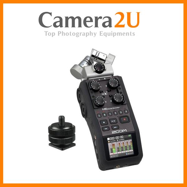 Zoom H6 Handy Recorder + Hotshoe Mount