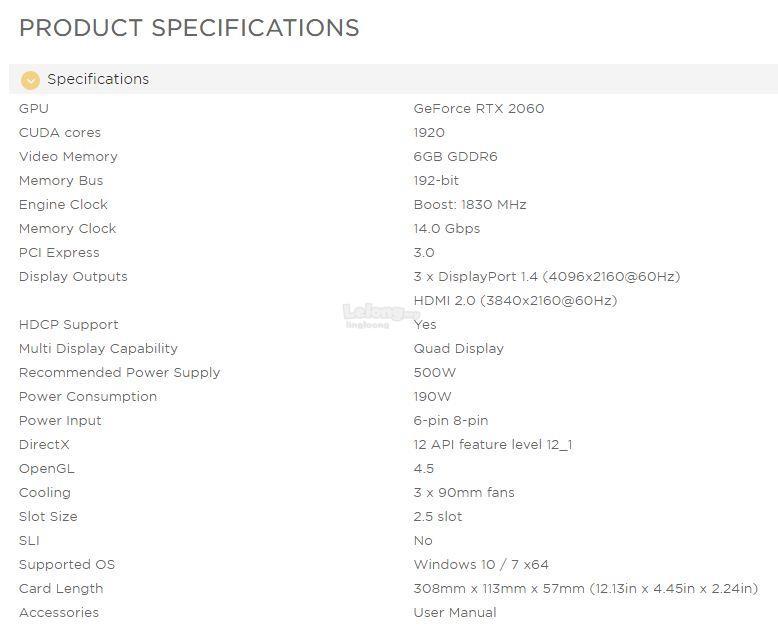 # ZOTAC GAMING GeForce RTX 2060 AMP Extreme # 6GB/GDDR6 | 1830MHz
