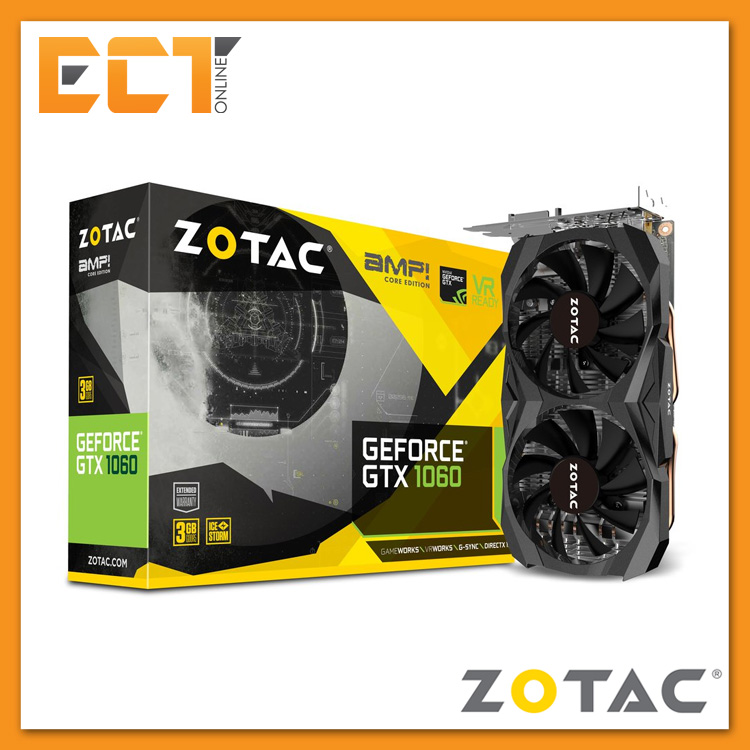 Zotac Geforce GTX 1060 AMP Core Edition 3GB GDDR5 192-Bit PCI-E Graphi