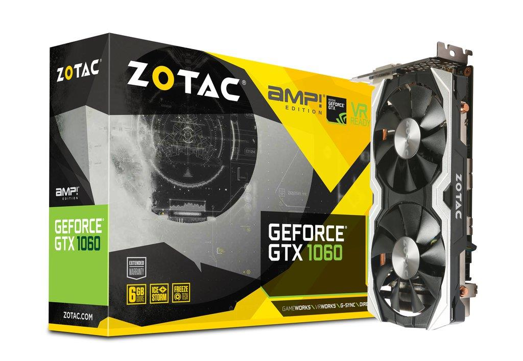 ZOTAC GTX1060 6G AMP EDITION CARD