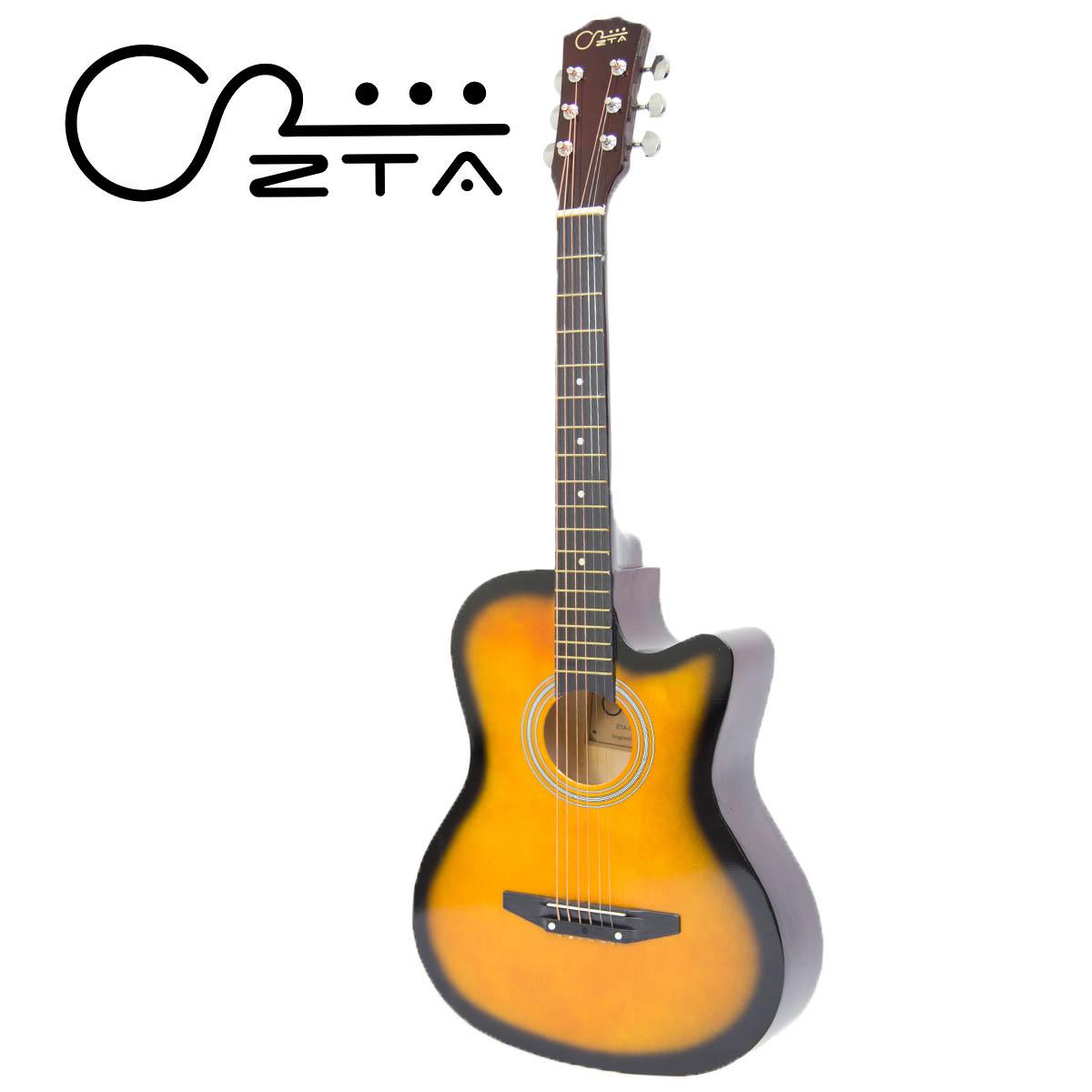 Zta 38 Inch Acoustic Guitar Sunburs End 6 14 2021 1200 Am Pickup On An Electric Bass Or Sunburst Eq Cutaway Starter Pack Fo