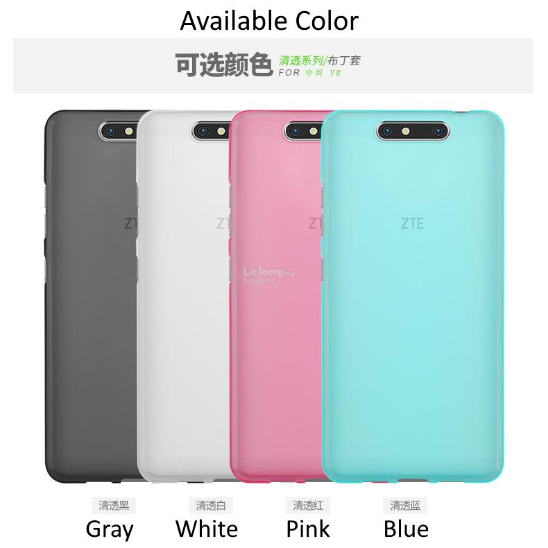 new products 11e3c 97354 ZTE Blade V8 Transparent Frosted Soft TPU Case