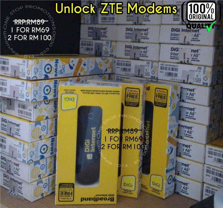 ZTE MF190 HSPA Modem 'Unlocked' 1pcs FOR RM69 @ 2psc FOR RM10