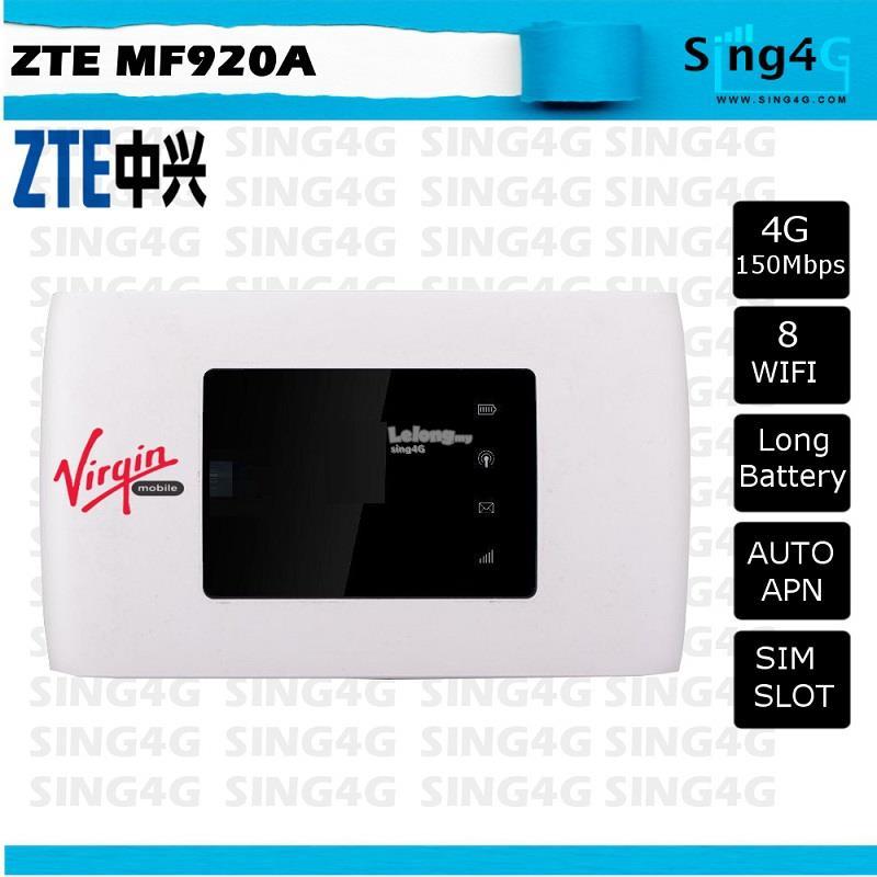 ZTE MF920 MF920A 4G 150Mbps MIFI Portable Hotspot @ e5372 e5577 e589