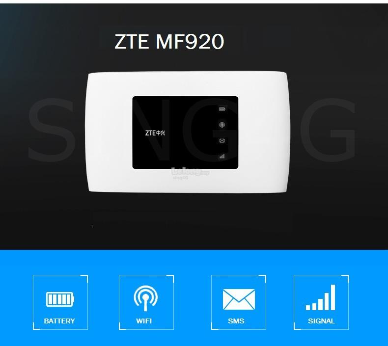 ZTE MF920 MF920V 4G 150Mbps MIFI Portable Hotspot @ r218 r215 r217