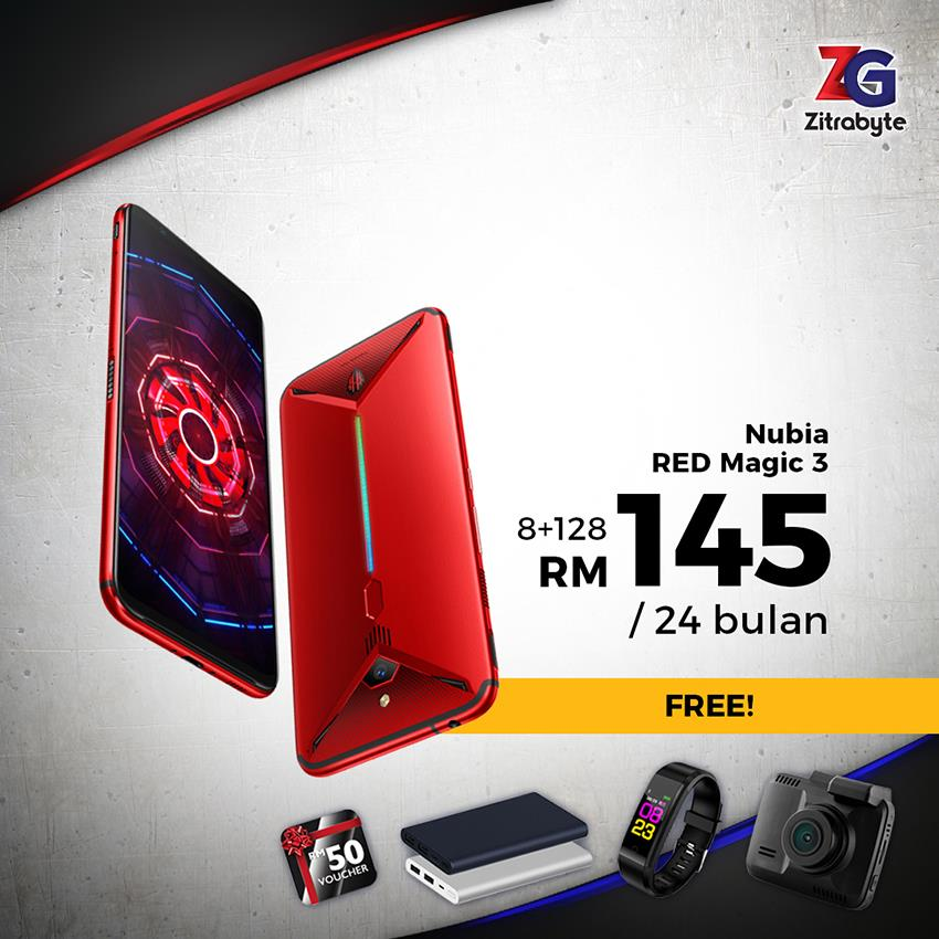 ZTE Nubia RED Magic 3 / Bulanan RM145