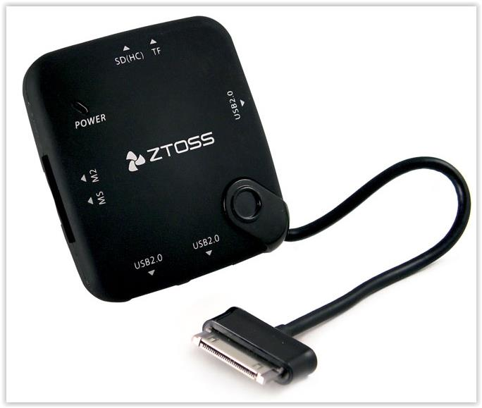 ZTOSS TAB CONN 412 ALL IN ONE CARD READER FOR SAMSUNG GALAXY TAB