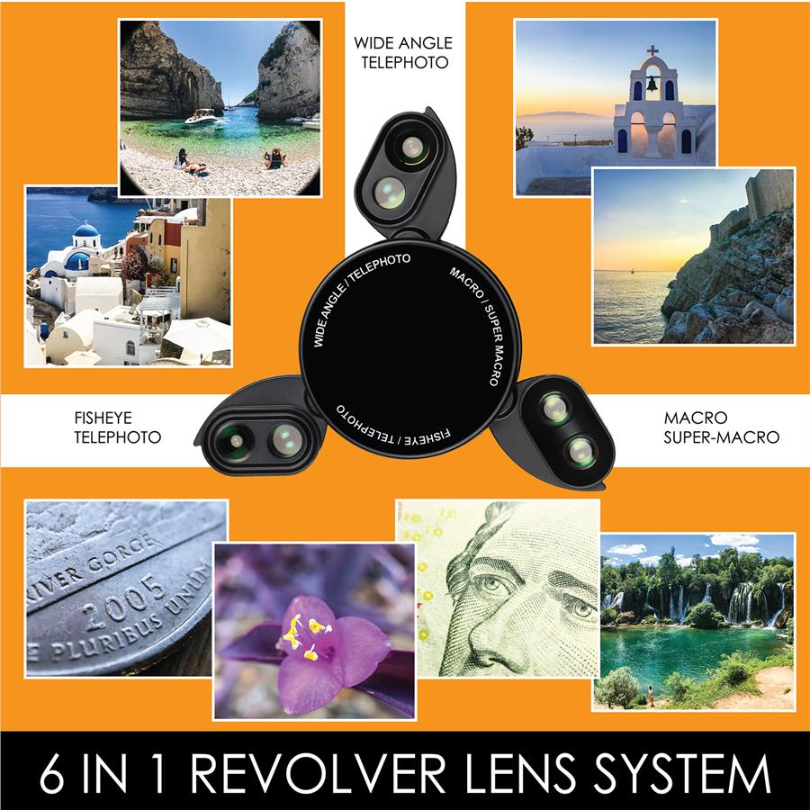 Ztylus Iphone X ( 6 in 1 ) Revolver Lens Kit - Gloss Black