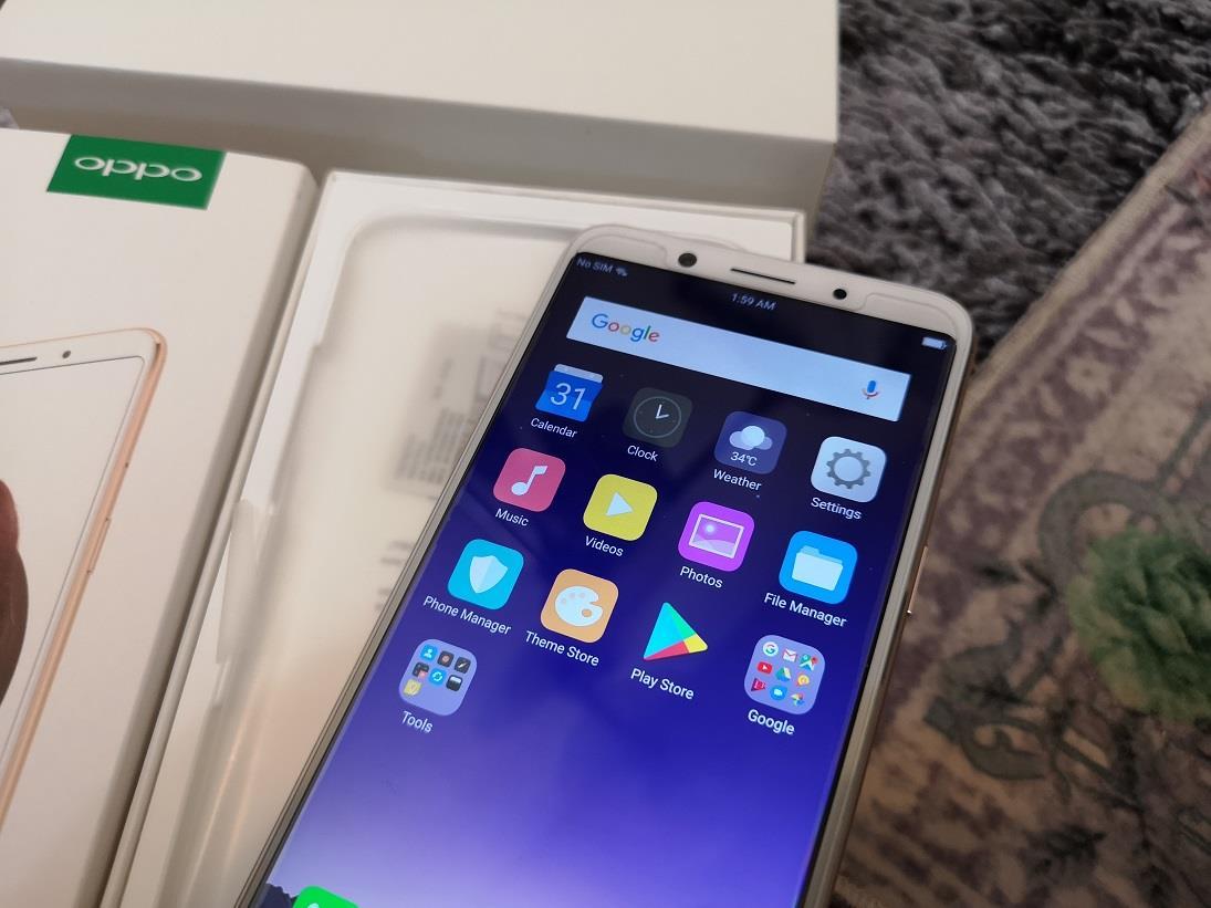Oppo F5 Gold Full Set 32GB/4GB/20Mp Selfie Cam