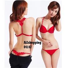 04147Korean wild sexy anterior cingulate sweet princess Underwear Bra