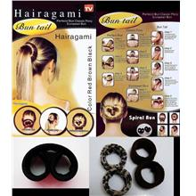 1 set 2 pieces HAIRAGAMI Bun Tail Hair Clip Accessory