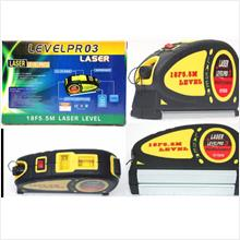 1pc Laser Level Beam & 2 way Bubble & 5.5m Ruler