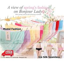 Ice Silk Seamless | Modal Fashion | Flower Panties S M L XL Ladies