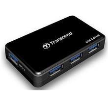 TRANSCEND USB 3.0 SuperSpeed 4 Port 2A Fast Charging Hub TS-HUB3K