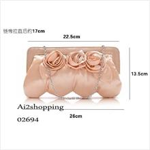 High fashion flowers hand shoulder glossy satchel evening bag02694