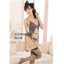 Ice silk the wild Leopard straps taste vest three-piece04746