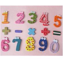 Lovely Cartoon Numbers Fridge Magnetic Wood Materials