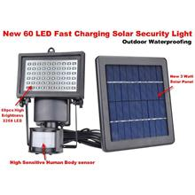FAST CHARGING SOLAR POWER SECURITY MOTION 60 LED LIGHT