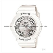 CASIO BGA-160-7B1 Baby-G Ana-Digi neon illuminator resin silver white
