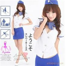 Night Flight Stewardess Costume Cosplay Role Play Sexy Lingerie L3010