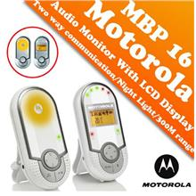 Motorola MBP16 Audio Baby Monitor with LCD Display