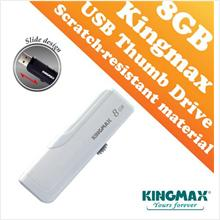 Kingmax PD-02 USB Drive (8GB) Slide Design - Black and White Color