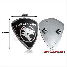Proton Replacement Emblem Silver-on-Black (Small)
