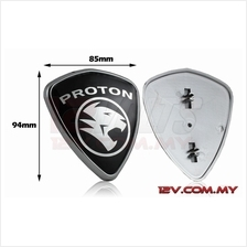 Proton Replacement Emblem Silver-on-Black (Large)