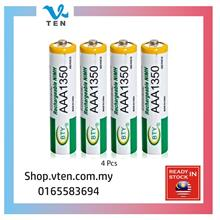 4pcs AAA 1.2V Rechargeable Battery Bateri Chargeable Pengecas