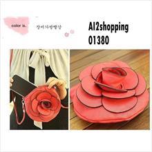 KoreaPUleather flowers fashion handbag/purse/bag/Pouch(large)01380