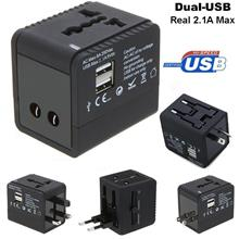 5 in 1 Universal/International Travel Adapter with 2 USB Port 2.1Amp