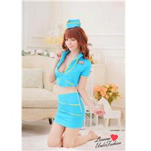 Flight Stewardess Temptation Uniform Sexy Costume Lingerie L3009