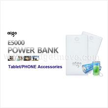 Aigo 5000mAh Power Bank External Battery Pack Mobile Charger Energy