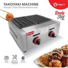 Fresco Takoyaki Gas Machine FR-56.R , 2 plate 28 Holes