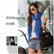 01596Korean Lee Hyo Ri favorite folds fashion play scarf