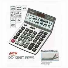Casio Genuine Desk-Top Calculator DX-120ST Tilt Display Value Series
