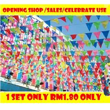 Pennant string flag bunting triangle string bunting flags Openning
