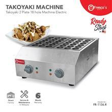 Fresco Takoyaki Electric Machine FR-1136 ,2 plate 18 hole 45mm hole