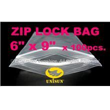 "ZIP LOCK BAG 6"" x 9"" x 100 pcs. ONLINE PROMO Resealable Plastic Bags"