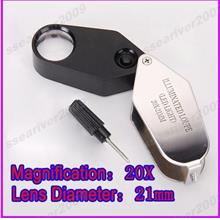 1pc Diamond Loupe with LED illuminators-20x21mm