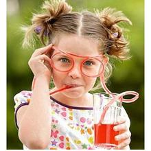 Silly Straw Glasses —Fancy.Novelty Gift.Coiling.Funny—
